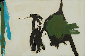 Robert Motherwell, Two figures with green stripes, 1960