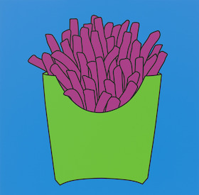 Michael Craig-Martin, Untitled (chips blue), 2016