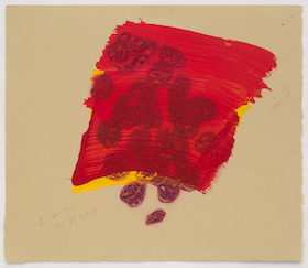 Howard Hodgkin, A Glass of Red From After All, 2015
