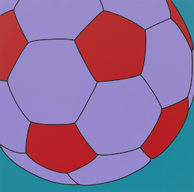 Michael Craig-Martin, Untitled (fragment football), 2016