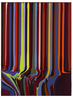 Ian Davenport, Puddle Painting: Indian Red No. 1, 2012