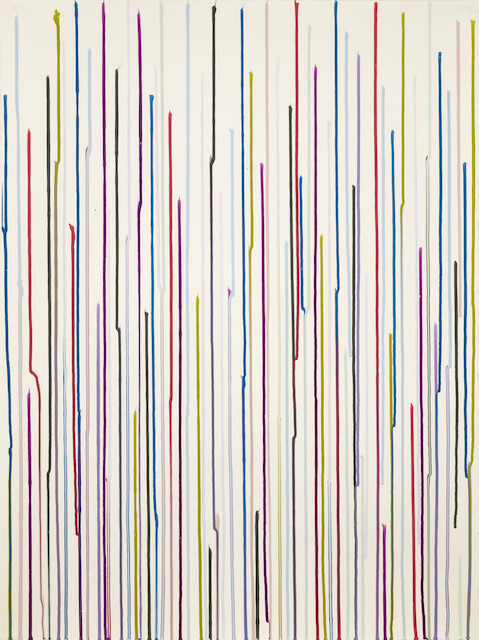 Ian Davenport, Staggered Lines Rudiments no. 1, 2015